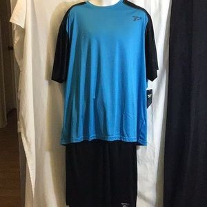 Reebok Men's Black/Blue Short Set Size 3XL